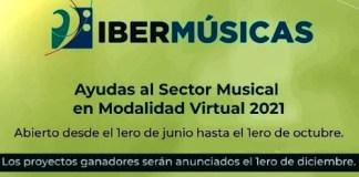 Ayudas al sector musical en modalidad virtual 2021