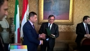 Delegazione irachena Bashar Ahmed Leoluca Orlando