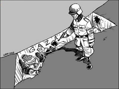 It was Israel's policies that guaranteed that the sleeping giant would not die in its sleep. (Latuff)