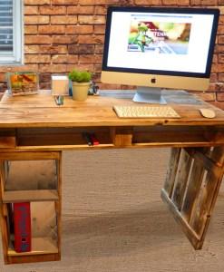 Paletten Schreibtisch Holztisch Palettery