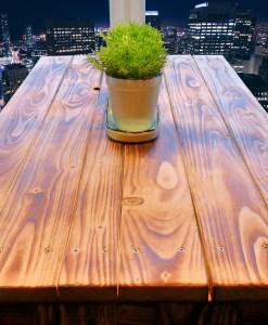 Palettenmöbel Sitzgruppe – Paletten Tisch & Hocker 2