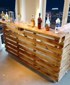 Paletten Tresen Bar Gartenbar XXL 8c