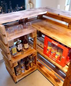 Paletten Tresen Bar Gartenbar XXL14a