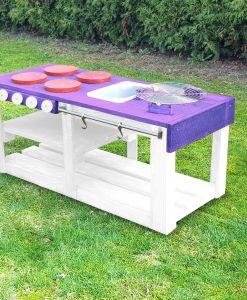 Kinderküche Matschküche 360 Grad aus Paletten L - lila
