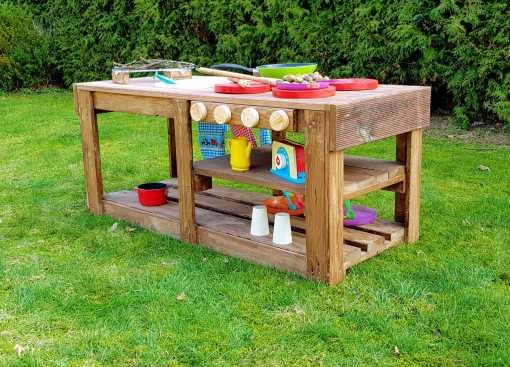 Kinderküche Matschküche aus Paletten Möbel (11)
