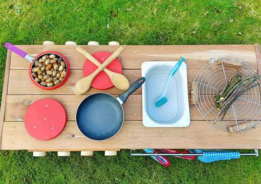 Kinderküche Matschküche aus Paletten Möbel (15)