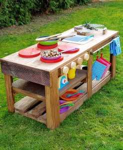Kinderküche Matschküche aus Paletten Möbel (5)