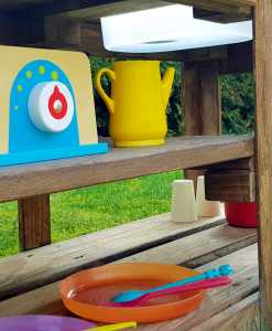 Kinderküche Matschküche aus Paletten Möbel (8)