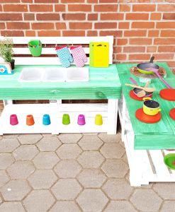 Matschküche-Kinderküche-aus-Paletten-Holz-MMP-Mintgrün