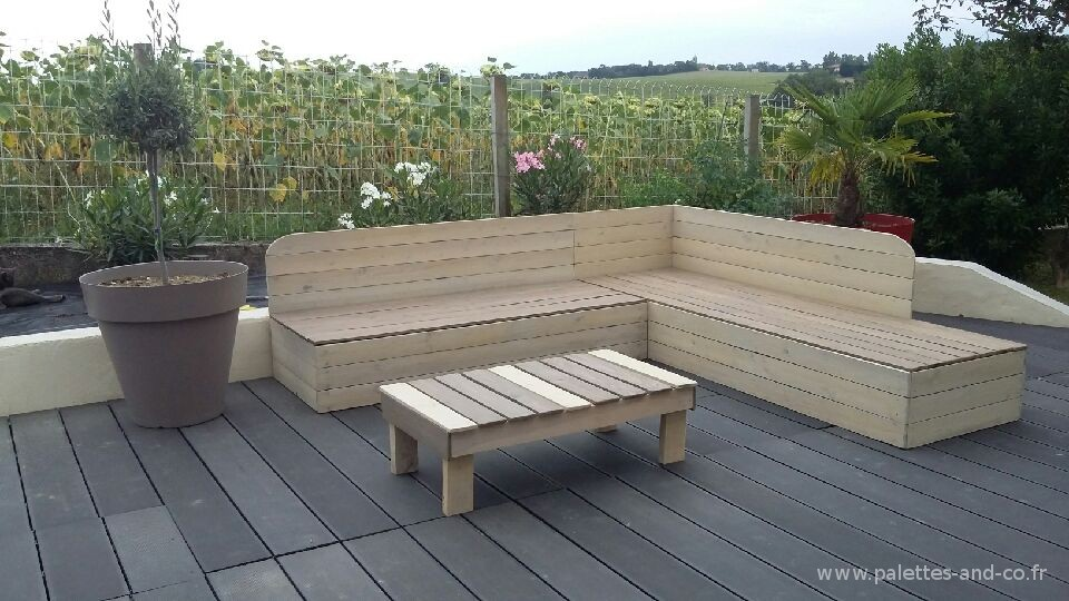 Canape Exterieur Bois Maison Design