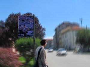 Palina fermata bus a Casale Monferrato