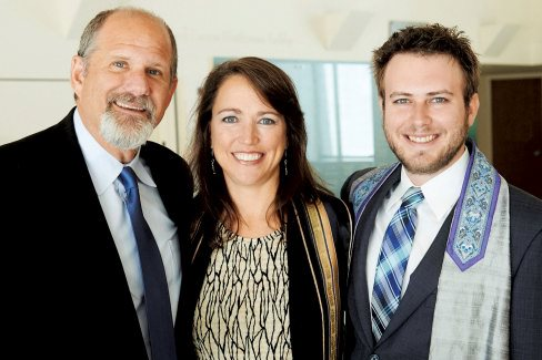 Cantor Chayim Frenkel, Rabbi Amy Bernstein and Rabbi Nick Renner. Photo: Jeff Lipsky
