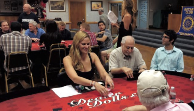 Residents played in the Rotary's Texas Hold'em Tournament