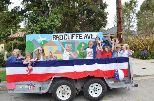 For many years the Radcliffe float, decorated by families who lived on the street, graced the parade. Photo: Shelby Pascoe