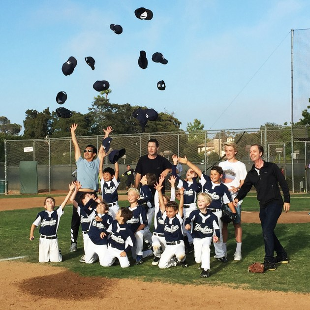 The Pinto Yankees celebrate their win.