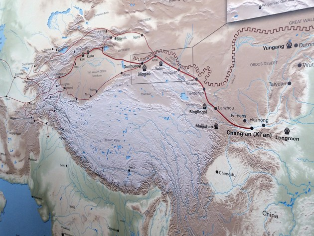 Heading east, the Silk Road caravan route passed through the Hexi region, west of the Yellow River, before beginning the arduous desert stages of the journey. Branches led north across the steppe and south to India. Photo: Libby Motika