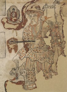 Traveling Monk, ca. 851-900 CE, ink and pigments on paper. London, British Museum.