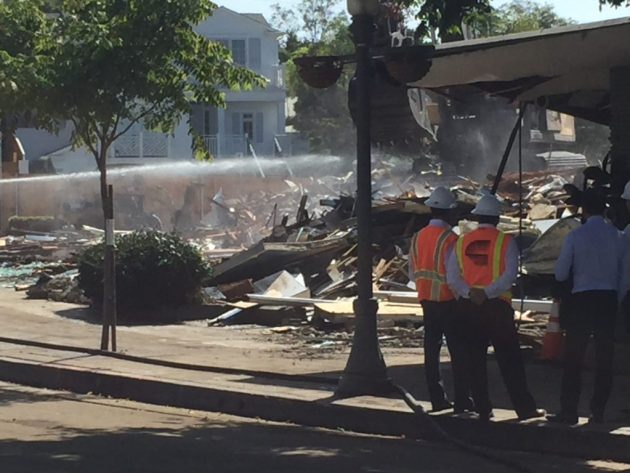 Buildings demolished on Swarthmore in Pacific Palisades on Sept. 6, 2016.