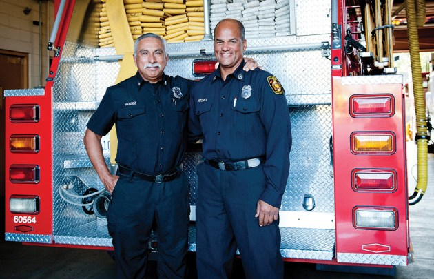 A Platoon captains Tony Valdez and Darryl Mitchell