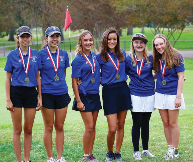 The six-member team of Mariana Paleno, Sophia Eberlein, Lillia Weissmuller, Melanie Matayoshi, Abby Brown and Carly Weitz placed in the top ten in league finals.