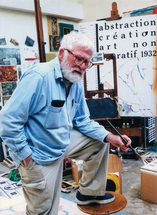 R.B. Kitaj in his Westwood studio in August 2000. Photo: Ethel Fisher