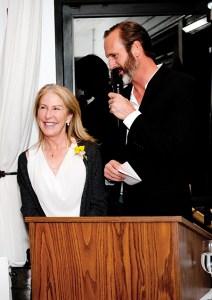 Brian Deming introduced Sparkplug winner Amy Lundberg.