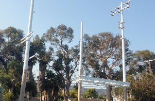 Pole-top distribution station is proposed.