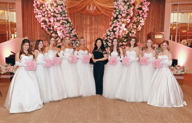 The 2016 debutantes presented included (left to right) Alanna Beatrice Richman, Reilly Morgan Pressman, Claire Kathryn Hollingsworth, Siena Coranne Severino, Micaela Danielle Cole, Dr. Wendy Chang, Coronet Debutante Ball Director, Elizabeth Virginia Eicher, Lillian Lubin Goldsmith, Rowan Brooks Lane, Lauryn Kate Tauber. Photo: Lee Salem