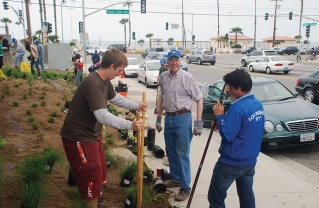 Rotarians beautified and maintained the pump station at the base of Temescal Canyon Road and Pacific Coast Highway.
