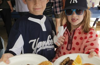 Ian DeHaan and sister Gabby both enjoyed the pancake breakfast last year at the Palisades Recreaction Center. Photo: Bart Bartholomew