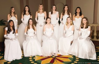 Standing (left to right) Christina Shirley, Olivia Welch, Hayden O'Brien, Claire Keller, Lauren Dundee and Stephanie Ahn; seated: Pria Pant, Gabriella Berchtold, Cornelia Clarkson, Claire Bertram and Isabella Peyrot.