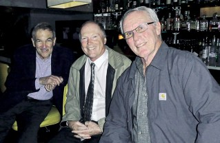 Dr. Richard Johnson (center) joined Arnie Wishnick (left), and Bob Vickery for dinner at Matteo's Restaurant on Westwood Boulevard. Photo: Barry Stein