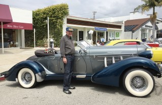 Jon Boyd with the 1936 Auburn that he built from a kit.