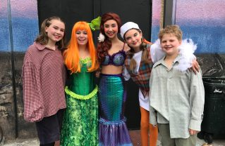 "Members of ""The Little Mermaid"" cast include (left to right: Erika Gedgaudas, Sophie Davidson, Juliet Burks, Tess Hubbard and Toby Lehr"