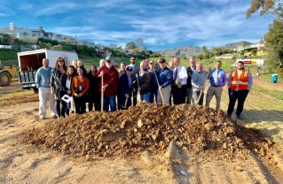Local lawmakers, community leaders and city engineers break ground for Potrero Canyon Park. Photo: Courtesy.