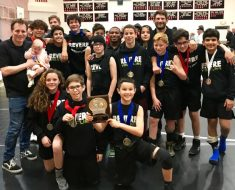 The Paul Revere Wrestling Club Took at the Delphic League Championship, where the team took second place. Photo: Courtesy