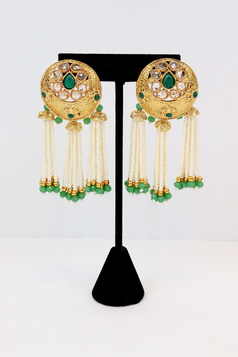Stone Studded Earring - E08 | Palkhi Fashion