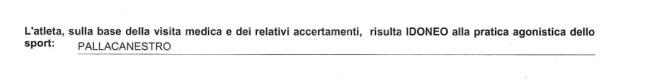 certificato sportivo (dettaglio sport)