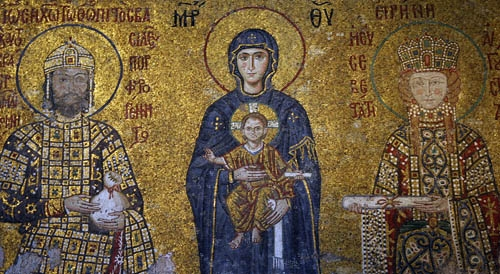 John Comnenus, Eirene and the sone Alexios from Hagia Sophia