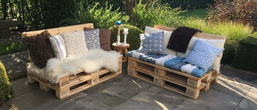 Geliefde Palletbank of loungeset met schuine rugleuning maken? | Palletdeal.nl! #TL23