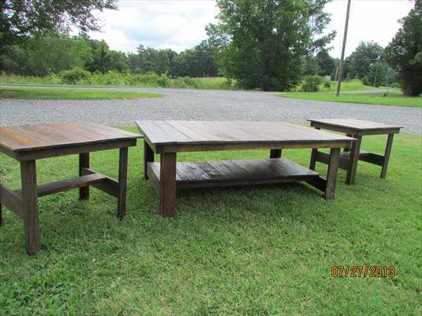 pallet coffee table end tables