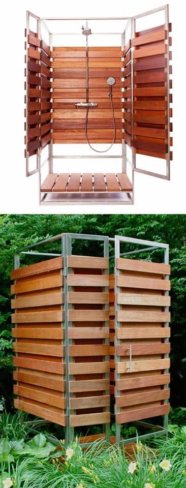 Pallets Made Outdoor Bathing Shower Ideas Pallet Ideas