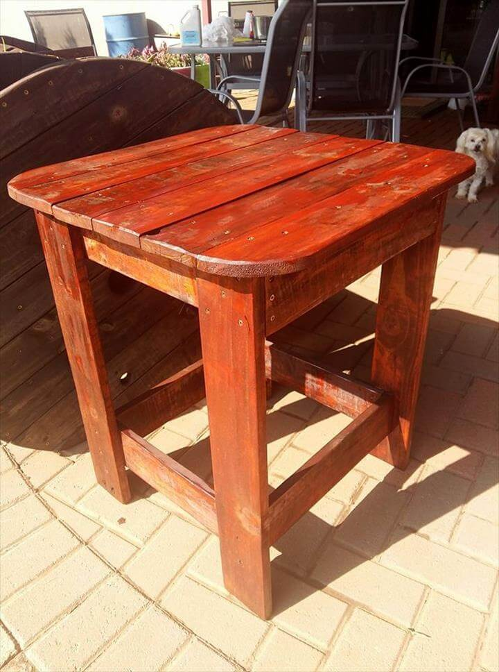 Diy Pallet Side Table For Outdoor Pallets Pro
