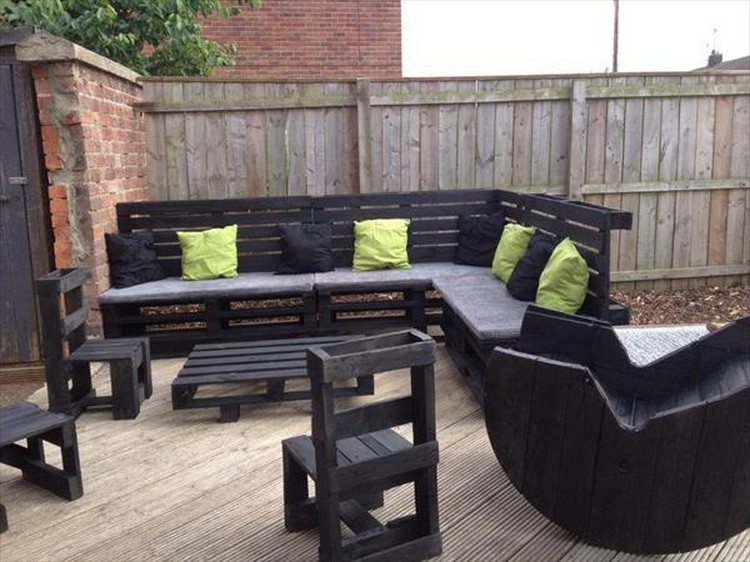 pallet outdoor sectional sofa pallet