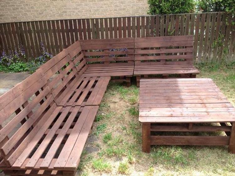 DIY Pallet Garden Furniture Plans Pallet Wood Projects