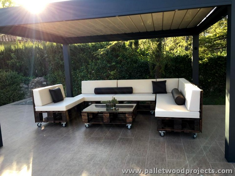 Nice Wooden Pallet Sofa On Wheels Wood Projects