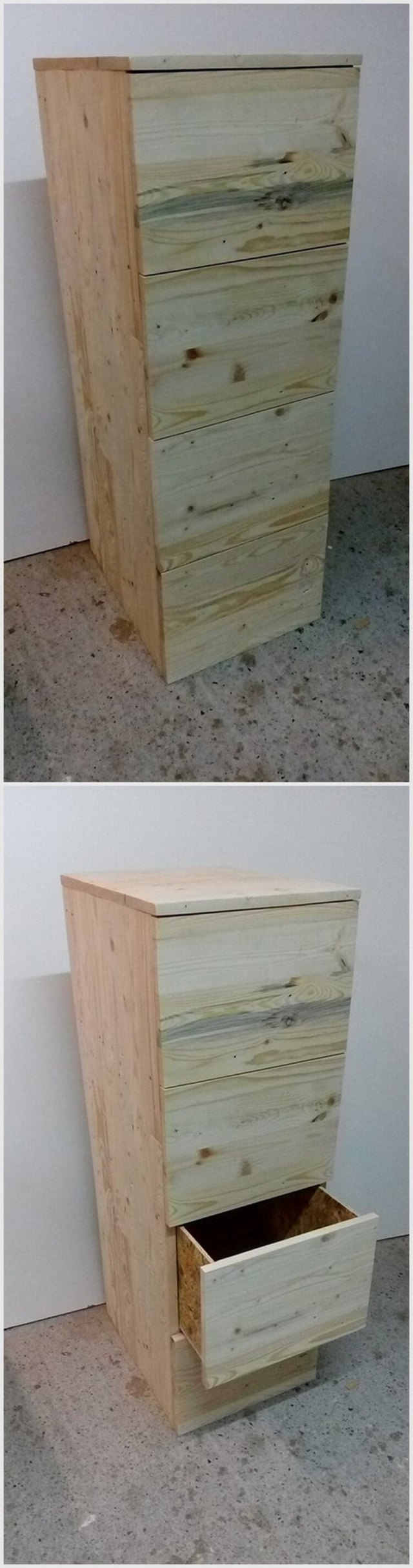 Wood Pallet Drawers