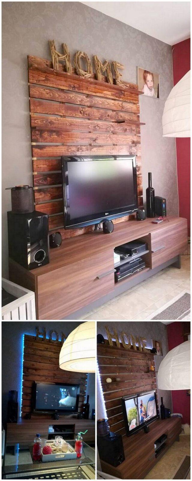 Pallet TV Stand Media Cabinet (2)