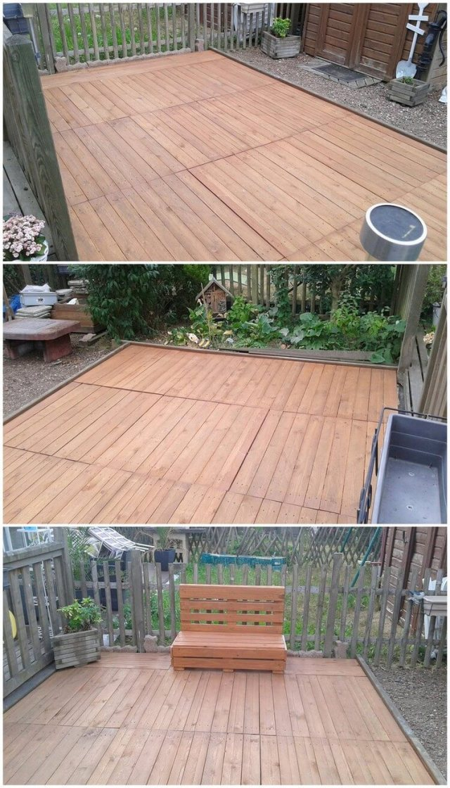Pallet Terrace and Seat