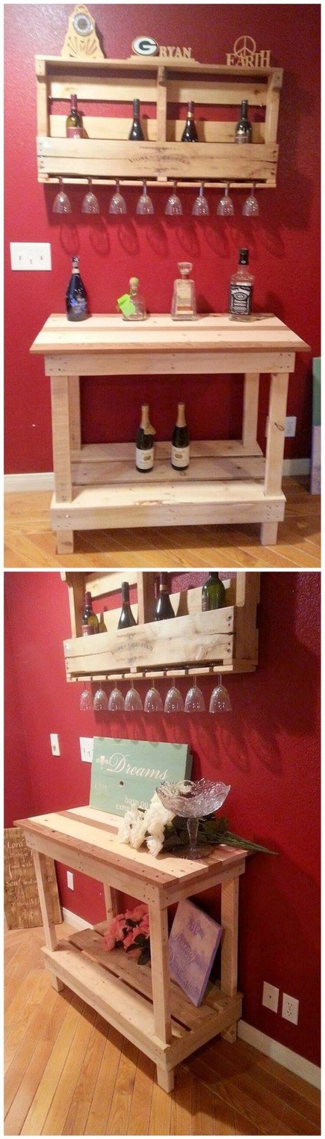 Pallet Wine Rack and Table (2)